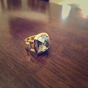 Large Gold Jewel Costume Ring